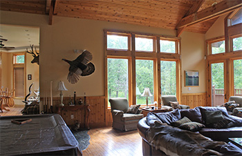 Inside view of lodge