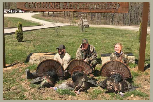 Call today to schedule your turkey hunting adventure! 660-815-0868